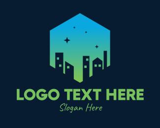 Star Gazing - Night City Sky  logo design