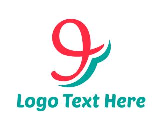 Number 9 - Script Number 9 logo design