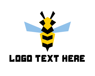 Buzz - Flying Bee logo design
