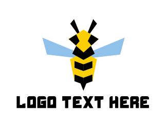 Flying - Flying Bee logo design