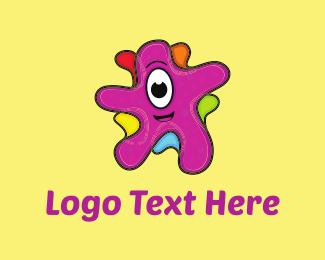 Kindergarten - Friendly Blob logo design