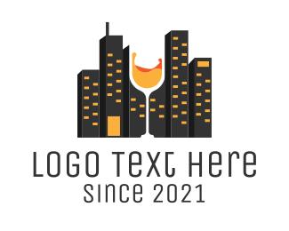 Bar - Cityscape Bar logo design