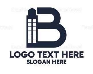 Business Center - Minimalist Letter B Building logo design