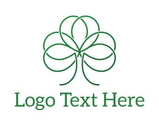 Four Leaf Clover - Green Shamrock logo design