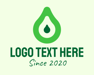 Guacamole - Fresh Green Avocado logo design