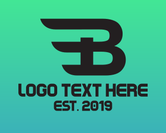 Esports - Black B Wing logo design