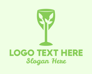 Bordeaux - Organic Wine Glass logo design