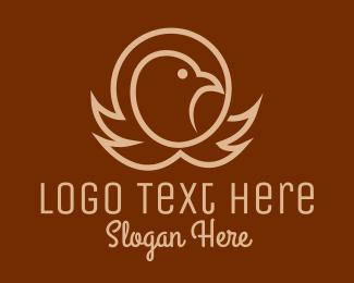 Eagle Head - Eagle Head Outline logo design