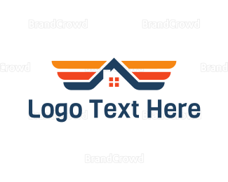 Wing - Winged House logo design