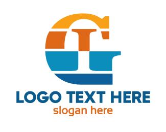 Stripe - Colorful Stripe GI logo design
