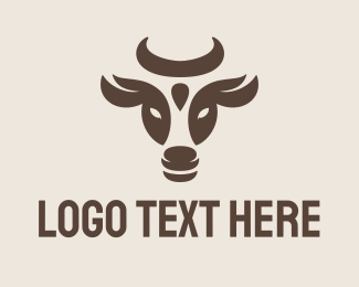 Dairy Farmer - Cow Bull logo design