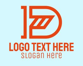 """""""Orange Construction Letter D"""" by SimplePixelSL"""