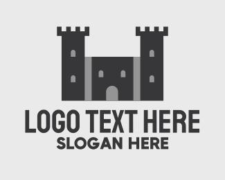 Fortification - Black Castle Fortress logo design