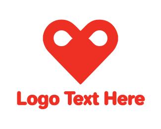 Heart - Infinity Heart  logo design