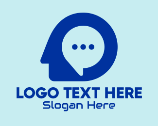 Contactless - Online Chat Mind  logo design