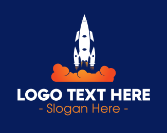 Takeoff - Rocket Launch logo design