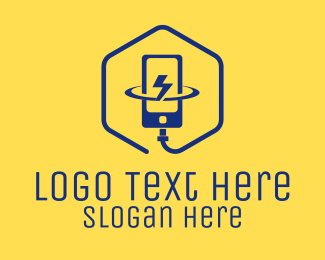 Charging Station - Smartphone Mobile Electric Charging  logo design