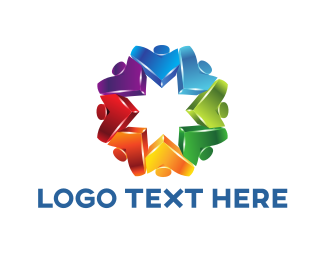 Volunteer - Colorful Flower logo design