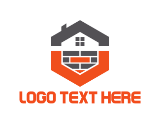 Contractor - Hexagonal House logo design