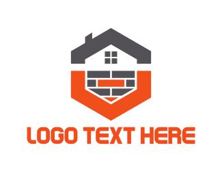 Brick - Hexagonal House logo design