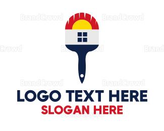 Painter - House Paint Brush logo design