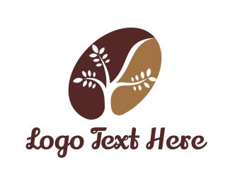 Cafe Latte - Organic Coffee Bean logo design