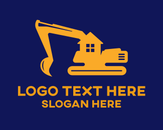 Demolition - Home Construction Excavator logo design