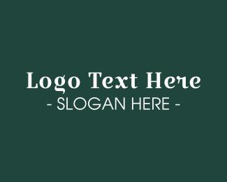Old School - Classic Serif Text Font logo design