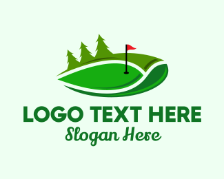 Professional Athlete - Abstract Golf Course logo design