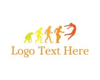 History - Human Evolution logo design