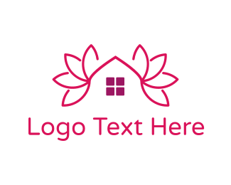 Realtor - Pink Lotus House logo design