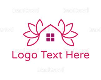 Broker - Pink Lotus House logo design