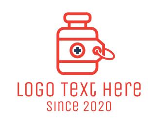 Discount - Prescription Drugs Tag logo design
