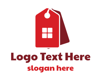 Sale - Red Home Sale logo design