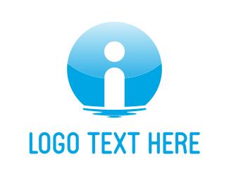Knowledge - Blue Information logo design