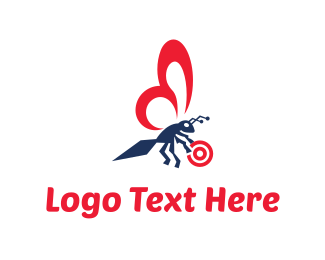 Bee - Insect Target logo design