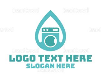 Dry Cleaner - Drop & Clean logo design