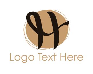 Elegent - Curly Letter H logo design