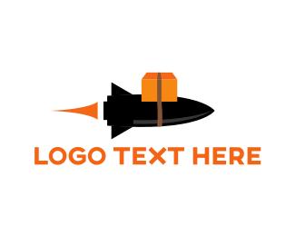 Airmail - Delivery Rocket  logo design