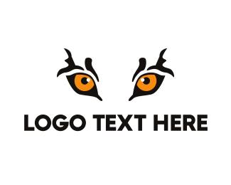 Tiger - Orange Tiger Eyes logo design