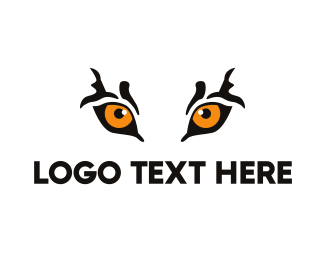 Leopard - Orange Tiger Eyes logo design