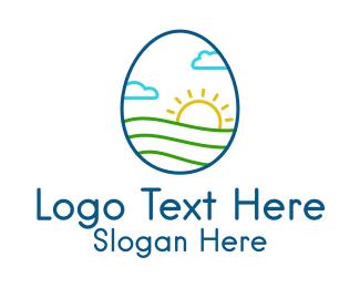 Clouds - Organic Egg Farm logo design