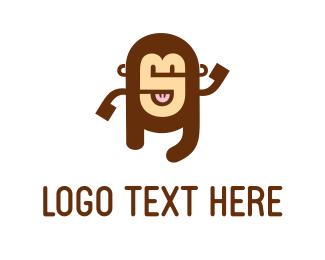 School - Alphabet Monkey logo design