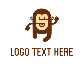 Education Alphabet Monkey logo design