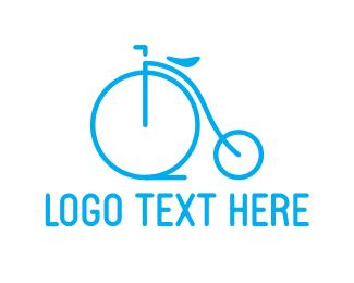 Cycling - Blue Bicycle logo design