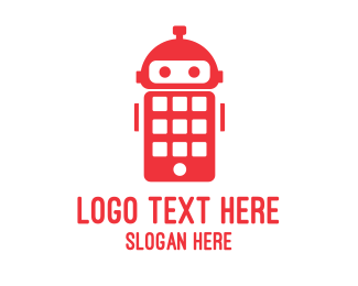 Mobile Phone - Robot Phone logo design