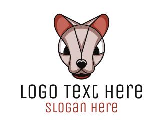 Breeder - Angry Sphynx Cat logo design
