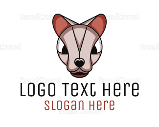 Angry - Angry Sphynx Cat logo design