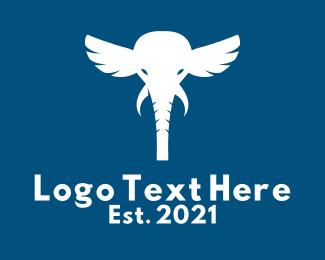 Winged - Winged Elephant logo design