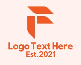 Initial - Orange Corporate Letter F logo design